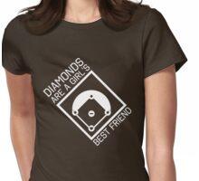 Diamonds are a girls best friend Womens Fitted T-Shirt