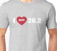 I love hate 26.2 Unisex T-Shirt