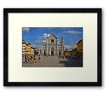 Piazza Santa Croce - Firenze Framed Print