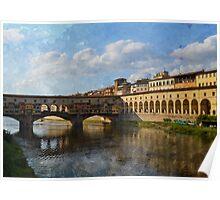 Il Ponte Vecchio - Firenze Poster