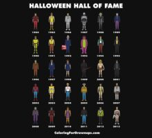 Halloween Hall of Fame T-SHIRT (White text) by CFGbook