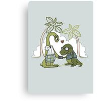 DiNERDsaur Love Canvas Print