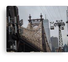 Roosevelt Island Tram, Queensboro Bridge, Roosevelt Island, New York City Canvas Print