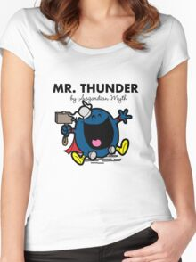 Mr Thunder Women's Fitted Scoop T-Shirt