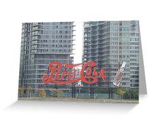 Historic Pepsi Cola Sign, Long Island City, New York Greeting Card