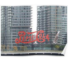 Historic Pepsi Cola Sign, Long Island City, New York Poster
