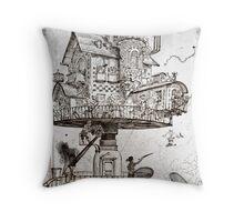 Aerial House Maison Throw Pillow