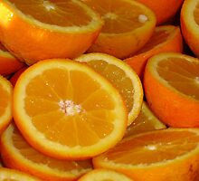Closeup Of Sliced Oranges by taiche