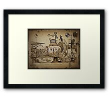 Les Tours Travel Machine Framed Print