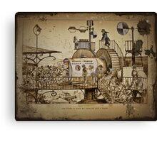Les Tours Travel Machine Canvas Print