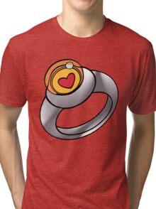 Planeteer Ring - Heart - Large image Tri-blend T-Shirt