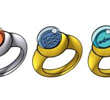 Planeteer Rings - Go Planet! - White Font Sticker