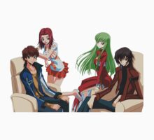 Lelouch, cc, Suzaku and Kallen Code geass by VirtualMan