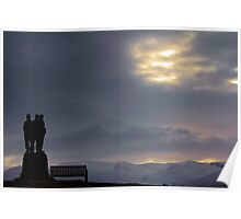 Royal Marine's Monument at Spean Bridge. Poster