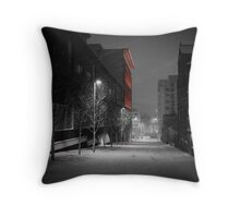 Severn Street in the Snow Throw Pillow