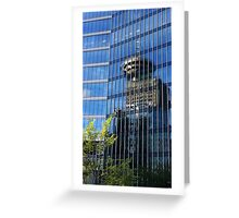 Vancoucer BC, Canada - Reflections of the Sky Tower Greeting Card
