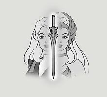 She-Ra Princess of Power - Adora/She-Ra/Sword - Black & White Unisex T-Shirt