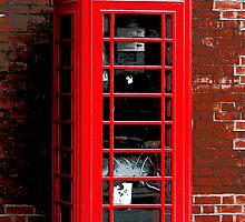 Red Phone Box London England UK by Val  Brackenridge