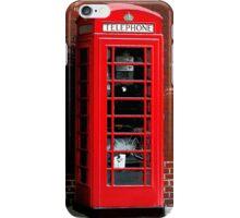Red Phone Box London England UK iPhone Case/Skin