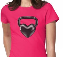 Kettlebell heart Womens Fitted T-Shirt