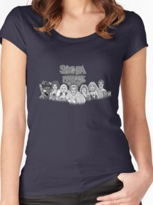 She-Ra Princess of Power - The Great Rebellion #1 - Black & White Women's Fitted Scoop T-Shirt
