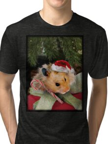 Merry Christmas Hamster Tri-blend T-Shirt