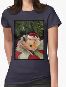 Merry Christmas Hamster Womens Fitted T-Shirt