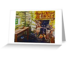 The Hearth, Magheragallen Byre Dwelling, Cultra, County Down. Oil/ acrylic on box canvas, 10 x 12 inch. Greeting Card