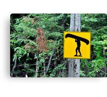 Canoe sign. Canvas Print
