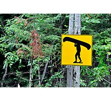 Canoe sign. Photographic Print