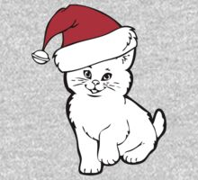 Santa Cat T-Shirts & Hoodies by mike desolunk