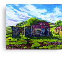 In the Townland of Gortnagory, Glencloy, County Antrim., Oil and acrylic on box canvas, 10 x 12 inch Canvas Print