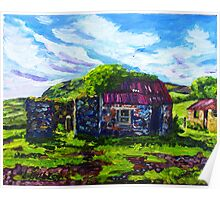 In the Townland of Gortnagory, Glencloy, County Antrim., Oil and acrylic on box canvas, 10 x 12 inch Poster