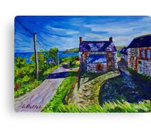 Deserted Farmhouse, Gortnagory Townland, Glencloy, County Antrim. Oil and acrylic on 10 x 14 inch canvas. Canvas Print