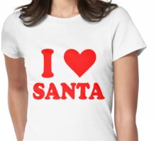 I Love Santa Womens Fitted T-Shirt
