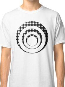 Modern techno shrinking polka dots black and white Classic T-Shirt