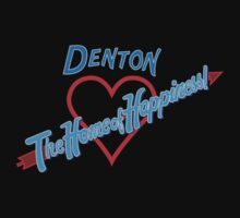 Denton - Home of Happiness in Neon T-Shirt