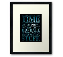 Dr Who Quote - David Tennant Framed Print