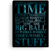 Dr Who Quote - David Tennant Canvas Print