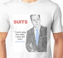 HARVEY SPECTER QUOTE POSTER-  'I don't Play the odds, I play the man' Unisex T-Shirt