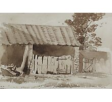 Pen and wash drawing - barn 1876 Photographic Print