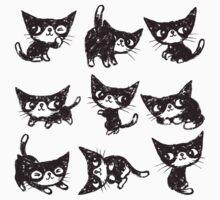 Nine poses of kitten T-Shirt
