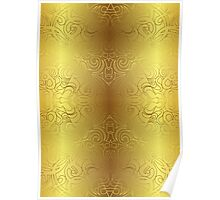 Floral Abstract Damasks Poster