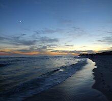 Sunset on the beach by Noelle Loberg
