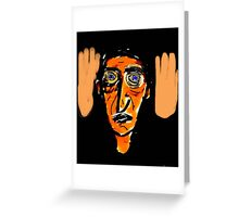 foot, head, and hand Greeting Card