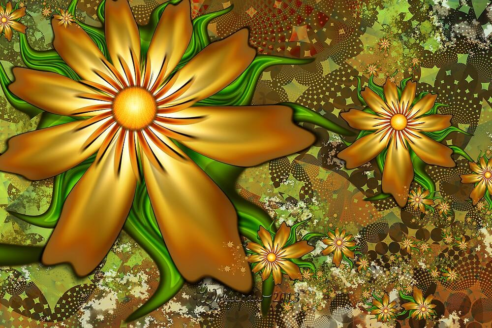 Golden Flowers by wolfepaw