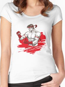 Muay Thai : Born to Fight Women's Fitted Scoop T-Shirt