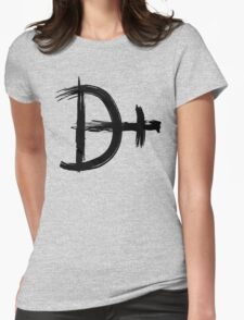 Magnesium Symbol - Black Edition Womens Fitted T-Shirt