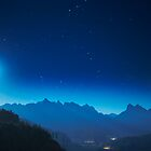 Moonrise over the Skykomish Valley by Jim Stiles