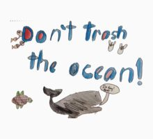 Nathan - Don't Trash the Ocean T One Piece - Long Sleeve